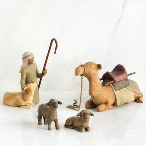 Shepherd and Stable Animals 26105 Willow Tree NEW